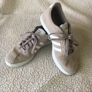 Adidas Court Sneakers Shoes Beige Lace Up